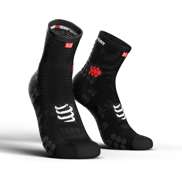 Compressport Pro Racing V3.0 - High Cut Running Socks - Smart Black
