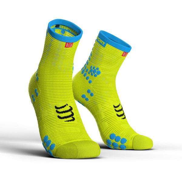 Compressport Pro Racing V3.0 - High Cut Running Socks - Fluo Yellow
