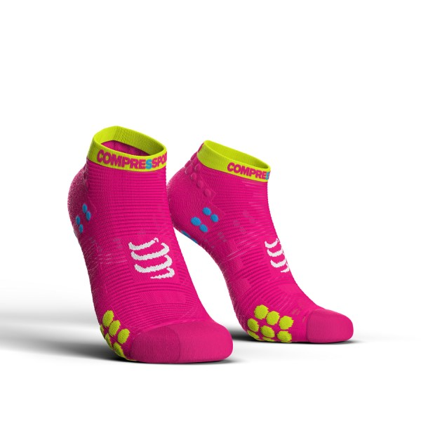 Compressport Pro Racing V3.0 - Low Cut Running Socks - Fluo Pink