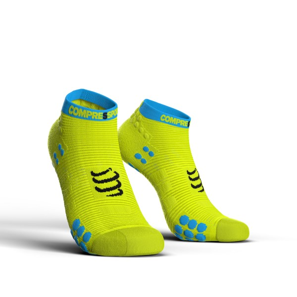 Compressport Pro Racing V3.0 - Low Cut Running Socks - Fluo Yellow