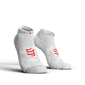 Compressport Pro Racing V3.0 - Low Cut Running Socks - Smart White