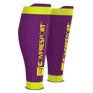 Compressport R2 V2 Compression Calf Sleeves - Purple