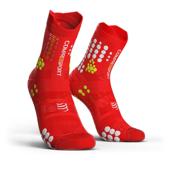 Compressport Pro Racing V3.0 - Trail Running Socks - Red/White